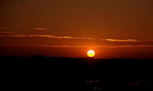 Sunset on 1st of Jan, 2013